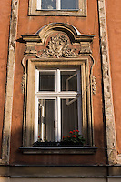 Old Window seen in the Old Town of Krakow Poland
