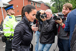 © Licensed to London News Pictures. 04/09/2017. Slough, UK. KIRSTY GALLACHER leaves Slough Magistrates Court in Berkshire, where she faced drink-driving charges. Sky Sports News presenter Kirsty Gallacher has been charged with drink driving after a night out in Eton, Berkshire, on August 12, 2017. Photo credit: Ben Cawthra/LNP