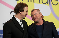Actor Lars Eidinger and Director Vadim Perelman at the press conference for the film Persian Lessons at the 70th Berlinale International Film Festival, on Saturday 22nd February 2020, Hotel Grand Hyatt, Berlin, Germany. Photo credit: Doreen Kennedy