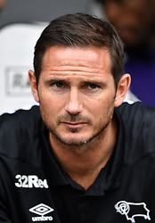 "Derby County manager Frank Lampard during a pre season friendly match at Pride Park, Derby. PRESS ASSOCIATION Photo. Picture date: Saturday July 21, 2018. Photo credit should read: Anthony Devlin/PA Wire. EDITORIAL USE ONLY No use with unauthorised audio, video, data, fixture lists, club/league logos or ""live"" services. Online in-match use limited to 75 images, no video emulation. No use in betting, games or single club/league/player publications."