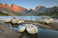 Deep Lake and East Temple Peak, Bridger Wilderness in the Wind River Range of the Wyoming Rocky Mountains