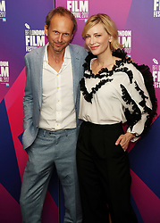 Cate Blanchett and Julian Rosefeldt arrive for LFF Connects, as part of the BFI London Film Festival, at the XXXX in London.
