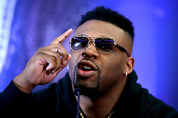 Jarrell Miller during the press conference at Hilton London Syon Park.