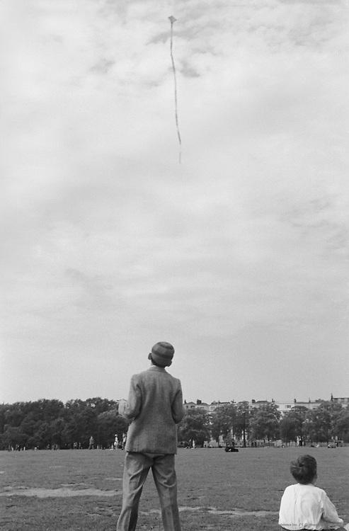Boy Flying a Kite, London, 1945