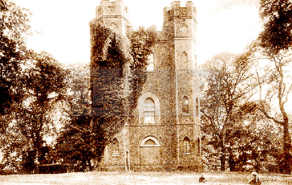 © Licensed to London News Pictures. 14/04/2014. An early picture of Severndroog, supplied by the Severndroog Castle Building Presevation trust.  A 18th century castle on a hill in south east London is preparing to reopen as its restoration nears completion. Severndroog Castle in Oxleas Woods on Shooters Hill enjoys stunning views across five counties. The folly has been closed for many years and was in state of disrepair before work started on a restoration project last year. The historic building featured in the BBC series Restoration in 2004. Reopening date yet to be confirmed, more information available fron the Severndroog Castle Building Presevation Trust . Credit : Rob Powell/LNP