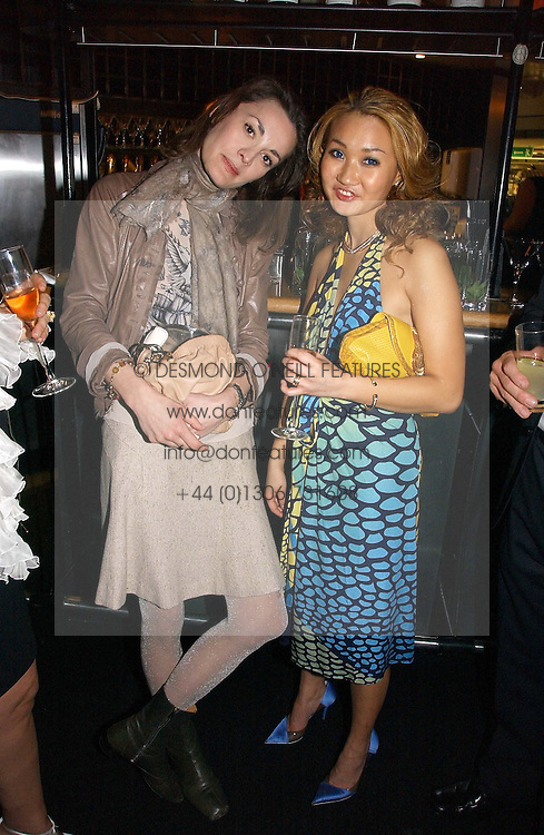 Right, YUKI OSHIMA-WILPON at the launch party for the fashion label Javovich-Hawk held at the Fifth Floor Cafe, Harvey Nichols, Knightsbridge, London on 27th April 2006.<br /><br />NON EXCLUSIVE - WORLD RIGHTS