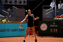 May 5, 2019 - Madrid, Spain - Petra Martic (CRO) in her match against Garbiñe Muguruza (SPA) during day two of the Mutua Madrid Open at La Caja Magica in Madrid on 5th May, 2019. (Credit Image: © Juan Carlos Lucas/NurPhoto via ZUMA Press)