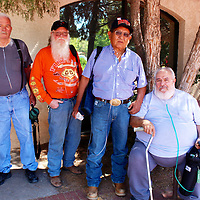 Duane Overstreet, left, Randal Thomas, Leslie Begay and Tomas Tovar asked to have their picture taken in hope that Congress will see it and listen to them when they say their health was harmed from working in the uranium mining industry after 1971.
