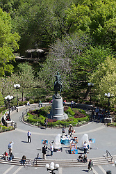 Union Square in New York City during the summer