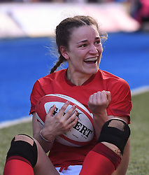 Wales' Jasmine Joyce emotional last try for Wales<br /> Wales Women v Ireland Women<br /> Guinness Six Nations 2019<br /> Cardiff Arms Park<br /> <br /> Photographer Mike Jones/Replay Images<br /> <br /> Guinness Six Nations 2019<br /> Cardiff Arms Park<br /> Cardiff.<br /> 17th March 2019<br /> <br /> World Copyright © Replay Images . All rights reserved. info@replayimages.co.uk - http://replayimages.co.uk