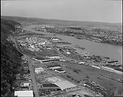 "Ackroyd 17214-02. ""aerials. April 12, 1971"", ""Guilds Lake"" (vicinity of Kittridge, St. Helens & Yeon)"