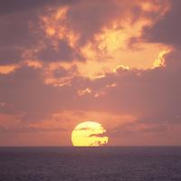 Hawaii, Kauai, Kilauea National Wildlife Refuge, sunset