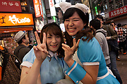 Young Japanese women enjoys the Halloween celebrations in Shibuya. Saturday October 28th 2017