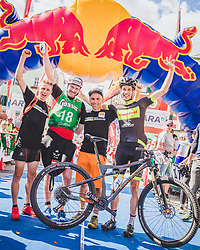 08.09.2018, Lienz, AUT, 31. Red Bull Dolomitenmann 2018, im Bild Magnini Davide (ITA, Fitstore24), Brodicky Stephan (AUT, Fitstore24) , Eichholzer Helmut (AUT, Fitstore24), Seewald Andreas (GER, Fitstore24) // Magnini Davide (ITA, Fitstore24), Brodicky Stephan (AUT, Fitstore24) , Eichholzer Helmut (AUT, Fitstore24), Seewald Andreas (GER, Fitstore24) during the 31th Red Bull Dolomitenmann. Lienz, Austria on 2018/09/08, EXPA Pictures © 2018, PhotoCredit: EXPA/ JFK