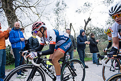 Carmen Small reaches the end of the final gravel sector - 2016 Strade Bianche - Elite Women, a 121km road race from Siena to Piazza del Campo on March 5, 2016 in Tuscany, Italy.