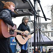 Chrissie Hynde preforms at the Protest against Julian Assange Extradition Free speech is not a Crimes, on 22th Feb 2020  in London, UK