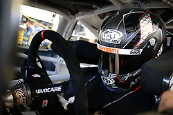 September 14, 2018 - Las Vegas, Nevada, United States of America - Trevor Bayne (6) straps into his car to practice for the South Point 400 at Las Vegas Motor Speedway in Las Vegas, Nevada. (Credit Image: © Chris Owens Asp Inc/ASP via ZUMA Wire)