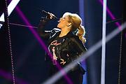 """Auftritt von Maite Kelly bei der SRF-Pop-Schlager-Show """"Hello Again"""". Aufzeichnung vom 14. April 2019 in den Fernsehstudios Zürich."""