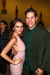 SANTA ANA, CA - OCT 10: Mexican actress and singer-songwriter Dulce Maria poses with former RBD mate Christian Chavez during ParaTodos Magazine 20th Anniversary Gala at the Bower Museum on 10th of October, 2015 in Santa Ana, California. Byline, credit, TV usage, web usage or linkback must read SILVEXPHOTO.COM. Failure to byline correctly will incur double the agreed fee. Tel: +1 714 504 6870.