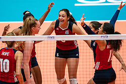 Allison Jacobs of USA in action during United States - Netherlands, FIVB U20 Women's World Championship on July 15, 2021 in Rotterdam