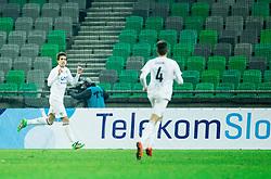 Miljan Skrbic of Krsko celebrates after he scored first goal for Krsko during football match between NK Olimpija Ljubljana and NK Krsko in 21st Round of Prva liga Telekom Slovenije 2016/17, on December 11, 2016 in SRC Stozice, Ljubljana, Slovenia. Photo by Vid Ponikvar / Sportida