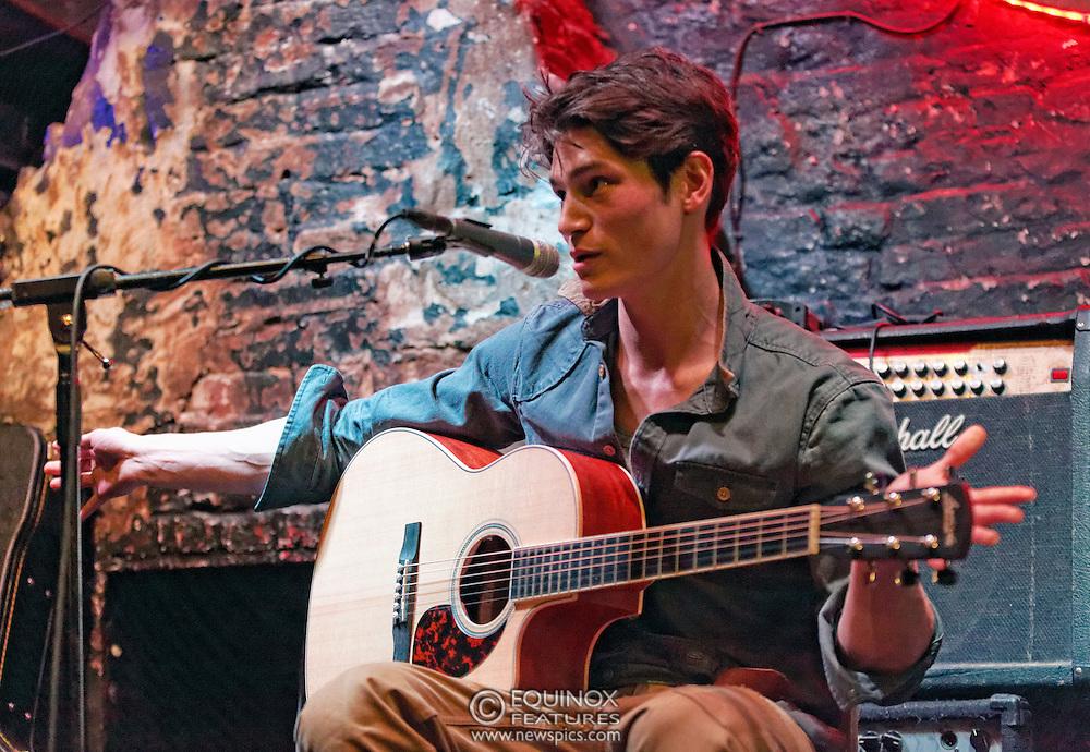 London, United Kingdom - 11 April 2013.Musician and model Sam Way performing at 12 Bar Club, Soho, London, England, UK..Contact: Equinox News Pictures Ltd. +448700780000 - Copyright: ©2013 Equinox Licensing Ltd. - www.newspics.com.Date Taken: 20130411 - Time Taken: 210447