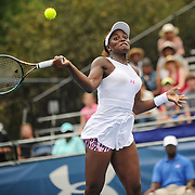 SLOANE STEPHENS of the United States plays against Lousia Chirico of the United States at Day 5 of the Citi Open at the Rock Creek Tennis Center in Washington, D.C. Stephens won in straight sets.
