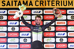 November 4, 2017 - Saitama, Japan - Mark Cavendish (Dimension Data) celebrates his win in the 58.9km Main Race, during the 5th edition of TDF Saitama Criterium 2017 ..On Saturday, 4 November 2017, in Saitama, Japan. (Credit Image: © Artur Widak/NurPhoto via ZUMA Press)