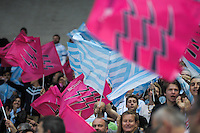 Supporters Stade Francais / Supporters Racing Metro - 29.05.2015 - Stade Francais / Racing Metro - Barrages Top 14<br />