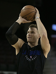October 10, 2017 - Los Angeles, California, U.S - Blake Griffin #32 of the Los Angeles Clippers sets up for a free throw during their Free Open Practice for fans held on Tuesday October 10, 2017 at the Galen Center in USC in Los Angeles, California. (Credit Image: © Prensa Internacional via ZUMA Wire)