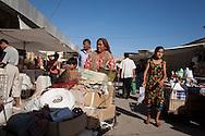 market in front of ALA KULLI KHAN caravanserail at the entrance gate of the old city  KHIVA  Ouzbekistan  .///.marche a l'entree de  la vieille ville. devant la porte du caravanserail ALA KULI KHAN  KHIVA  Ouzbekistan .///.OUZB56299