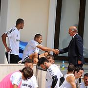 Besiktas's new Portuguese forward Bebe (Tiago Manuel Dias Correia) (C) and Sidnei Rechel da Silva Júnio (L) during their new season training at BJK Nevzat Demir training center in Istanbul, Turkey, 30 June 2011. Photo by TURKPIX
