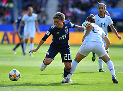 Yokoyama during the FIFA Women's World Cup group D first round soccer match between Argentina and Japan at Parc des Princes Stadium in Paris, France on June 10, 2019. The FIFA Women's World Cup France 2019 will take place in France from 7 June until 7 July 2019. Photo by Christian Liewig/ABACAPRESS.COM