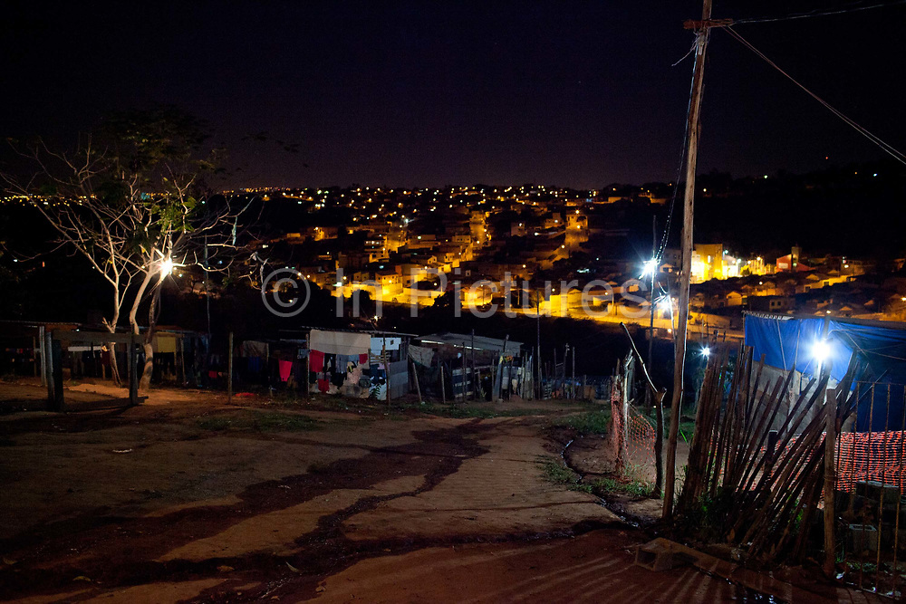 Isidoro occupation in Belo Horizonte, Minas Gerais in a large  amount of land that was occupied by the MLB, a Brazilian workers social movement, it faced eviction in July / August 2014. (photo by Phil Clarke Hill/In Pictures via Getty Images)