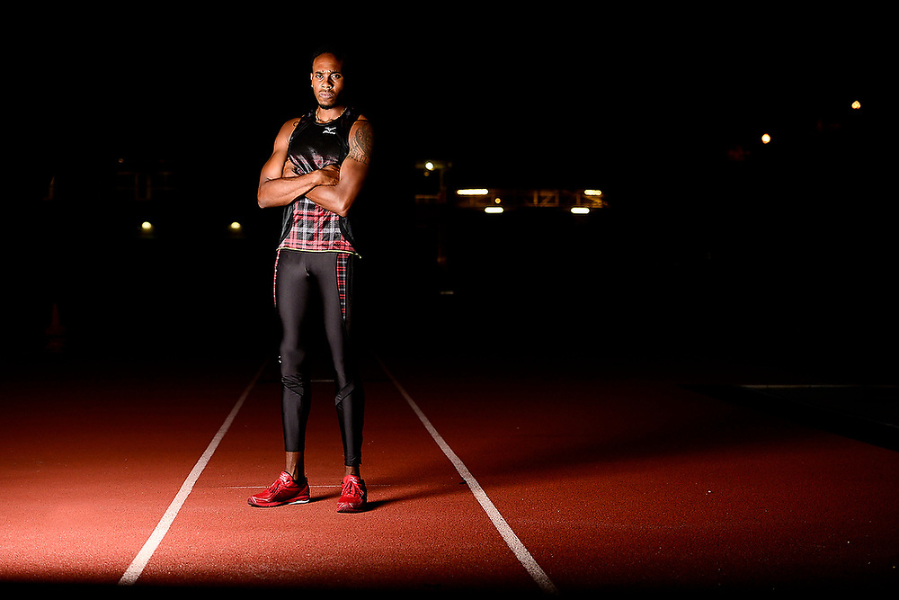 Olympic Bronze Medalist Leevan Sands for Southern Tatlr Magazine. <br /> Zach Bland Photo