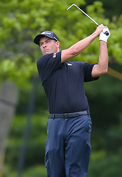May 19, 2019 - Farmingdale, NY, U.S. - FARMINGDALE, NY - MAY 19: Adam Scott of Australia takes a tee shot on 14 during the Final Round of the 2019 PGA Championship, on the Black Course, Bethpage State Park, in Farmingdale, NY. (Photo by Joshua Sarner/Icon Sportswire) (Credit Image: © Joshua Sarner/Icon SMI via ZUMA Press)