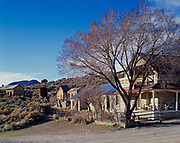 Ghost town of Belmont, founded in the 1860s and supported by twenty years of silver mining, Toquima Range, Nevada.