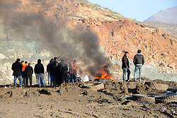 Relatives of the trapped miner observes the search and rescue process at the disaster site on the second day after a landslide caused a collapse at the private 'Madenkoy copper mine' in Turkey's southeastern Siirt Province's Sirvan District on November 19, 2016. Four killed and 14 workers are trapped under the wreckage after heavy rainfall led to the disaster at the Madenkoy copper mine. Photo by Depo Photos/ABACAPRESS.COM