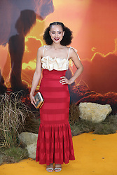 Nathalie Emmanuel attends the European Premiere of Disney's The Lion King at the Odeon Leicester Square, London.