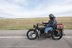 Jeff Erdman of Wisconsin riding his 1916 Harley-Davidson in the Motorcycle Cannonball Race of the Century. Stage-10 ride from Pueblo, CO to Durango, CO. USA. Tuesday September 20, 2016. Photography ©2016 Michael Lichter.