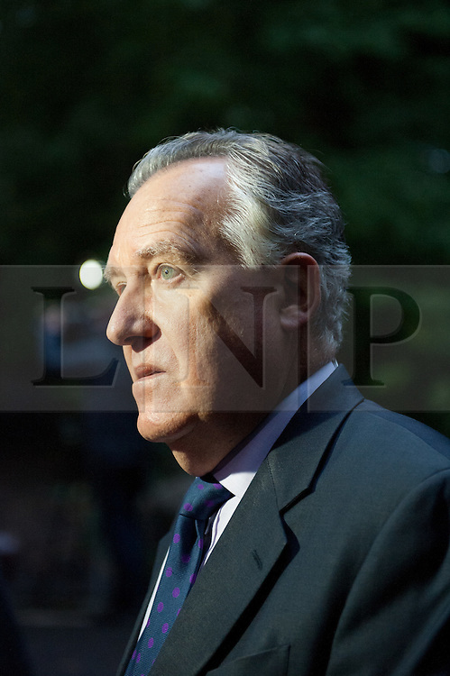 © licensed to London News Pictures  16/09/2011 .  Pontardawe,UK. ..Picture: Peter Hain..News of a miner found dead at the mine is broken  as an operation continues to rescue  miners trapped in a mine in the Swansea Valley. Photo credit :Aled Llywelyn/LNP