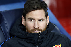 (l-r) Lionel Messi of FC Barcelona during the UEFA Champions League group D match between FC Barcelona and Sporting Club de Portugal on December 05, 2017  at the Camp Nou stadium in Barcelona, Spain.