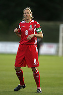 2011 FIFA Women's World Cup Qualifying match, Wales v Czech Republic at Stebonheath Park, Llanelli on Wed 23rd September 2009. pic by Andrew Orchard..Wales capt Jayne Ludlow