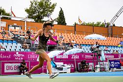PORTOROZ, SLOVENIA - SEPTEMBER 15: Kristina Mladenovic of France competes during the 2nd Round of WTA 250 Zavarovalnica Sava Portoroz at SRC Marina, on September 15, 2021 in Portoroz / Portorose, Slovenia. Photo by Matic Klansek Velej / Sportida