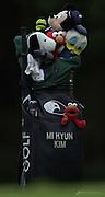 Sat 4th August 2001..Korea's, Mi Hyun Kim. Club bag..2001 Weetabix Women's Open, Sunningdale,..[Mandatory Credit Peter Spurrier/ Intersport Images]