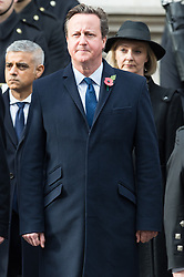 © Licensed to London News Pictures. 12/11/2017. London, UK. Former British Prime Minister DAVID CAMERON attends a Remembrance Day Ceremony at the Cenotaph war memorial in London, United Kingdom, on November 13, 2016 . Thousands of people honour the war dead by gathering at the iconic memorial to lay wreaths and observe two minutes silence. Photo credit: Ray Tang/LNP