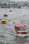 Nigel Farage, the leader of Ukip, joins a flotilla of fishing trawlers up the Thames to Parliament to call for the UK's withdrawal from the EU, in a protest timed to coincide with prime minister's questions.
