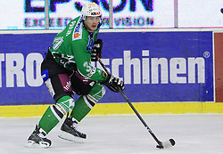 Ziga Pavlin at 39th Round of EBEL League ice hockey match between HDD Tilia Olimpija and HK Acroni Jesenice, on December 30, 2008, in Arena Tivoli, Ljubljana, Slovenia. Tilia Olimpija won 4:3. (Photo by Vid Ponikvar / SportIda).