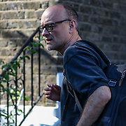 Dominic Cummings, the chief advisor to Britain's Prime Minister Boris Johnson, leaves his home in London, Friday, May 29, 2020. <br /> The prime minister's populist appeal has been hammered by the members of the public and news reporting that chief adviser Cummings drove 250 miles (400 kilometres) to his parents' house while he was falling ill with suspected COVID-19 allegedly flouting lockdown rules that the government had imposed on the rest of the country. (Photo/ Vudi Xhymshiti)