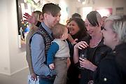 STUART SEMPLE; ARI SEMPLE;DR. MEL SEMPLE, Stuart Semple exhibition. Morton Metropolis. Berners St. London. 5 May 2010 *** Local Caption *** -DO NOT ARCHIVE-© Copyright Photograph by Dafydd Jones. 248 Clapham Rd. London SW9 0PZ. Tel 0207 820 0771. www.dafjones.com.<br /> STUART SEMPLE; ARI SEMPLE;DR. MEL SEMPLE, Stuart Semple exhibition. Morton Metropolis. Berners St. London. 5 May 2010